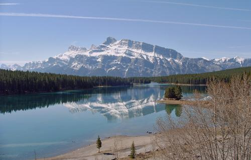 Mt Rundle, Alberta by Erich Poole