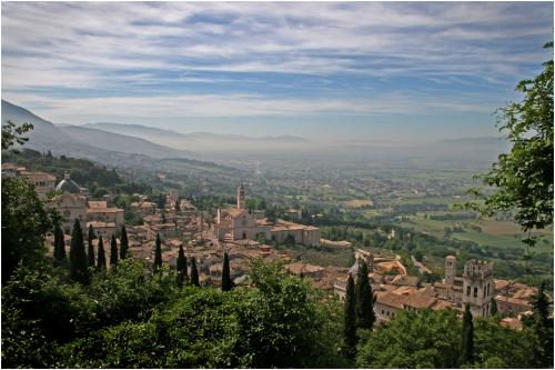 Assisi, Misty Morning by Peter Colligan
