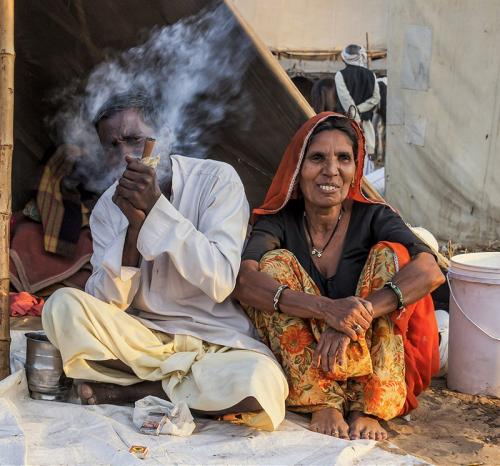 Pushkar Couple by Carrie Davidson